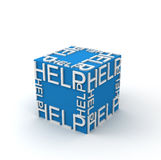 3d cubes with word HELP Royalty Free Stock Photos