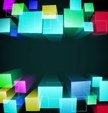 3d cubic abstract background. Vector illustration Stock Image