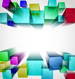 3d cubic abstract background. Vector illustration Royalty Free Stock Images