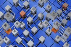 3D cubica el fondo Fotografía de archivo