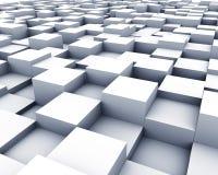 3D cubica la superficie Fotografía de archivo libre de regalías