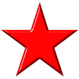 3D Cummunist Red Star. 3d communist red star isolated in white Stock Images