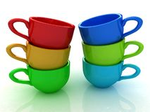 3d cups Stock Photography