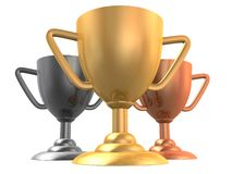 3d cups Royalty Free Stock Photo