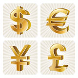 3d currency icon Stock Photography