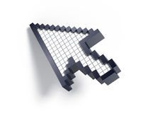3d cursor. On white background royalty free illustration