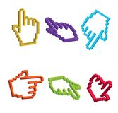 3D Cursor Hand Royalty Free Stock Photos