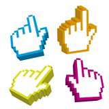 3d cursor hand Royalty Free Stock Images