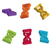 3D Cursor Hourglass Stock Image