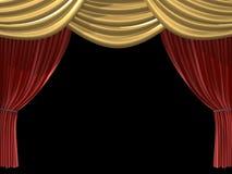 3d curtain Royalty Free Stock Photos