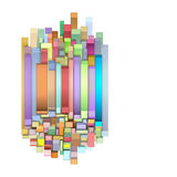 3d curved shapes in multiple color Royalty Free Stock Photography