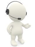 3d customer support operator Royalty Free Stock Image