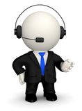 3D Customer support operator Stock Images