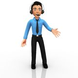 3D Customer support operator Royalty Free Stock Photography