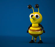 3D Cute Bee. Character isolated Stock Photo