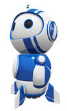3d Cute Blue Robot Hero Stance Gazing in Wonder Royalty Free Stock Photography