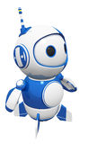 3d Cute Blue Robot Posed and Ready. For action to do whatever he must do to keep looking cute Stock Images