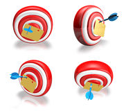 3d cute darts array Royalty Free Stock Photography
