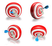 3d cute darts array Royalty Free Stock Photos