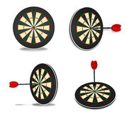 3d cute darts and memo range four set Royalty Free Stock Photos