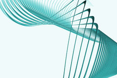 3d cyan lines Stock Photography