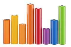 3d cylindrical graph bars Royalty Free Stock Photo