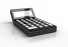 3d czarny kalkulatora renderingu biel Fotografia Stock