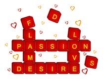 3d czerwony miłości scrabble ilustracja wektor