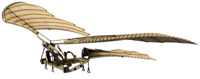 3d Da Vinci Ornithopter Flying Machine Stock Photos