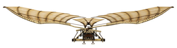 3d Da Vinci Ornithopter Flying Machine Royalty Free Stock Photo