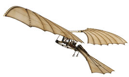 3d Da Vinci Ornithopter Flying Machine Royalty Free Stock Image