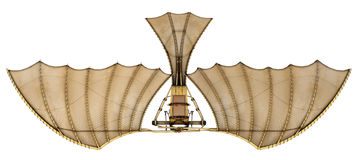3d Da Vinci Ornithopter Flying Machine Royalty Free Stock Photos