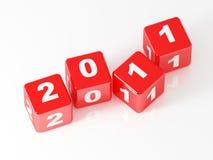 3d dadi rossi 2011 Immagine Stock