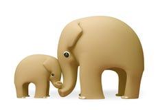 3D dag van olifants gelukkige moeders Royalty-vrije Stock Afbeeldingen