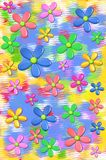 3d Daisies Fun Colors Two Stock Images