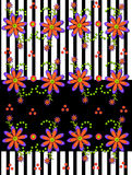 3D Daisies on Stripe Royalty Free Stock Photography