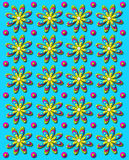 3D Daisy Dot in Aqua Stock Photos