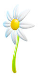 3d Daisy Simple Design Element Royalty Free Stock Photography