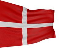 3D Danish flag Stock Photos