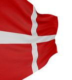 3D Danish flag Royalty Free Stock Photography