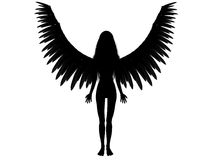3D dark angel Stock Photography