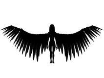 3D dark angel. Stock Photos