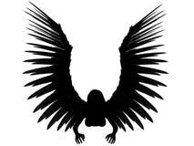 3D dark angel. Royalty Free Stock Photos