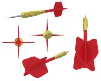 3D dart views. 3D dart from few views Stock Photography