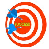 3d dartboard success Royalty Free Stock Images