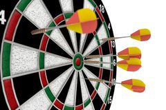 3D darts Royalty Free Stock Photo