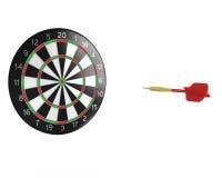 3D darts flight Stock Photo