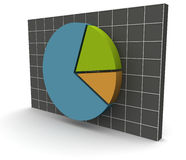 3D Data Graph over a grid. A 3D rendered illustration of a business data graph on a grey grid background Royalty Free Stock Photography