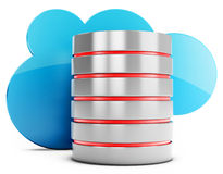 3d database server with cloud Royalty Free Stock Images
