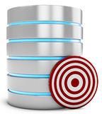 3d database server with target Stock Photography